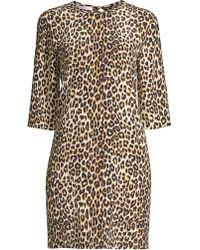 2a539db80aa5 Rebecca Taylor Silk Leopard-Print Shirtdress - Lyst