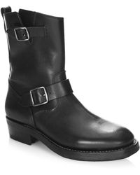 21c78fd983f0 COACH - Moto Leather Mid-calf Boots - Lyst