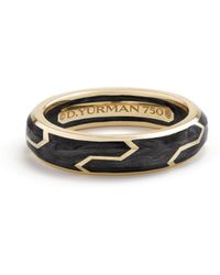 David Yurman - Forged Carbon 18k Yellow Gold Band Ring - Lyst