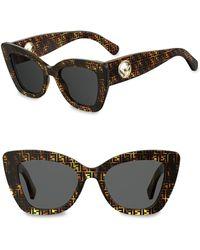 Fendi - 70mm Logo Print Cateye Sunglasses - Lyst