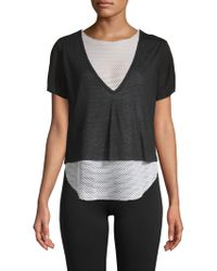 Koral - Double Layer Mesh Tee - Lyst