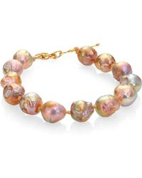 Lena Skadegard - 12.75mm Baroque Pebble Pearl Bracelet - Lyst