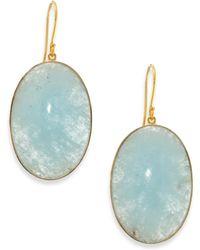 Lena Skadegard - Aquamarine & 18k Yellow Gold Drop Earrings - Lyst