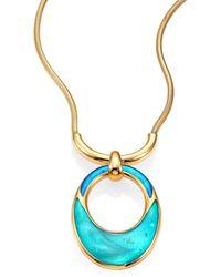 Maiyet - Orbit Mother-of-pearl & Enamel Pendant Necklace - Lyst