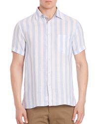 Luciano Barbera - Striped Linen Shirt - Lyst