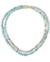 Lena Skadegard - Mixed Stone Wraparound Necklace - Lyst