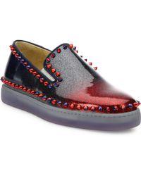 louis vuitton red bottom pumps - Shop Women's Christian Louboutin Sneakers | Lyst