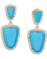 ABS By Allen Schwartz - Going Coastal Turquoise & 12k Goldplated Double Drop Earrings - Lyst
