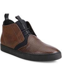Z Zegna - Cali Printed Shark Leather Chukka Boots - Lyst