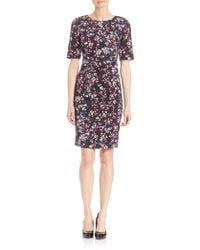 L.K.Bennett - Polena Floral-print Sheath Dress - Lyst