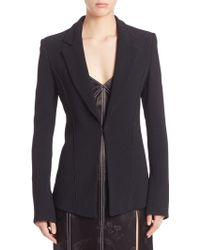 Wes Gordon - Piped Pebbled Crepe Blazer - Lyst