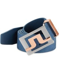 J.Lindeberg - Two-toned Buckle Leather Belt - Lyst