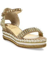 6b993920624b Christian louboutin Catchetta Metallic Gladiator Sandal Gold in Metallic