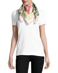 Ferragamo Heron-print Silk Scarf