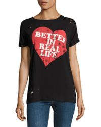 Wildfox - Better In Real Life Destroyed Tee - Lyst