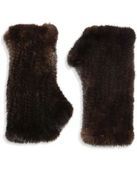 Surell | Fingerless Mink Gloves | Lyst