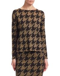 Akris Punto - Wool Houndstooth Pullover - Lyst