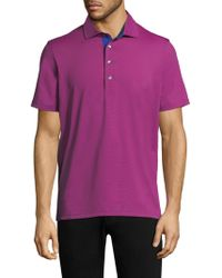 Greyson - Saranac Modern Tailored-fit Embellished Polo - Lyst