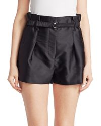 3.1 Phillip Lim - Satin Origami Paper Bag Shorts - Lyst