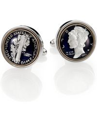 David Donahue - Sterling Silver Mercury Dime Cuff Links - Lyst