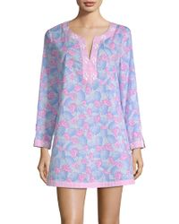 Vineyard Vines - Embellished Pineapple-print Tunic Coverup - Lyst