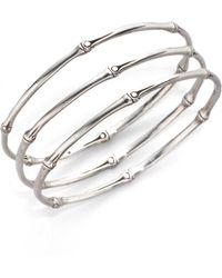 John Hardy - Bamboo Sterling Silver Slim Bangle Bracelet Set - Lyst