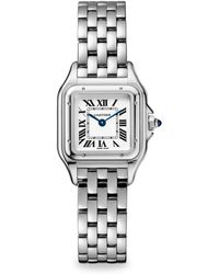 Cartier - Panthère De Small Stainless Steel Bracelet Watch - Lyst