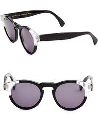 Illesteva - Leonard Split Back 48mm Round Sunglasses - Lyst