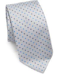 Saks Fifth Avenue - Collection Dots & Diamonds Silk Tie - Lyst