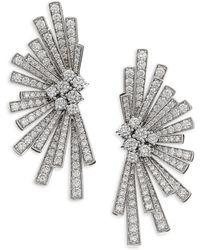 Hueb - Labyrinth Diamond & 18k White Gold Stud Earrings - Lyst