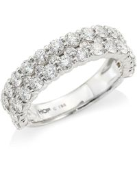 Hearts On Fire - Classics 18k White Gold, Diamond & Crystal Double Band Ring - Lyst