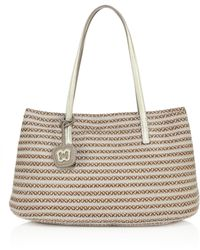 Eric Javits - Dame Brooke Woven Straw & Textile Tote - Lyst