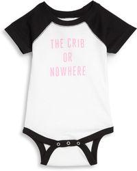 Knowlita - Baby's The Crib Or Nowhere Bodysuit - Lyst