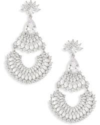 Fallon - Monarch Fan Crystal Chandelier Earrings - Lyst