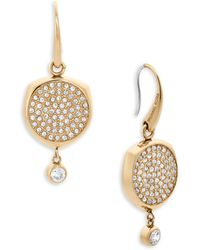 Michael Kors - Beyond Brilliant Disc Earrings/goldtone - Lyst