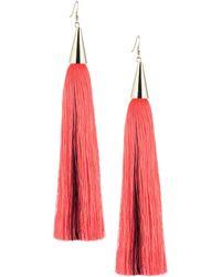 Eddie Borgo - Long Silk Tassel Earring - Lyst
