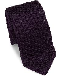 Hook + Albert - Solid Silk Knitted Tie - Lyst