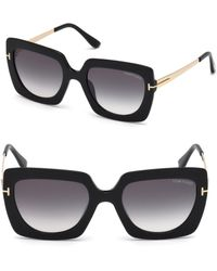 Tom Ford - Jasmine 53mm Two Tone Square Sunglasses - Lyst