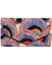Dries Van Noten - Embroidered Envelope Clutch - Lyst