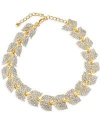 Kenneth Jay Lane - Crystal Leaf Bracelet - Lyst