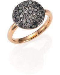 Pomellato - Sabbia Black Diamond & 18k Rose Gold Ring - Lyst