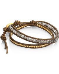 Chan Luu | Mystic Smokey Mix Double-wrap Bracelet | Lyst
