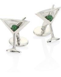 David Donahue - Jade Olives Martini Glass Cuff Links - Lyst
