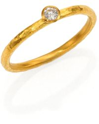 Gurhan - Delicacies Diamond & 24k Yellow Gold Skittle Stacking Ring - Lyst