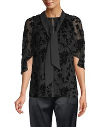 Elie Tahari - Rory Silk-blend Burnout Blouse - Lyst