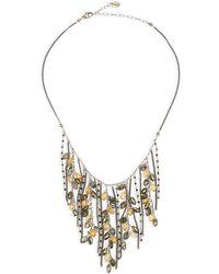 Chan Luu - Pyrite Mix Fringe Necklace - Lyst