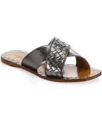 Bottega Veneta - Leather Slides - Lyst