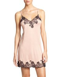 Josie Natori - Charlize Lace Embroidered Chemise - Lyst