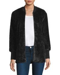 Splendid - Rib Faux Fur Jacket - Lyst