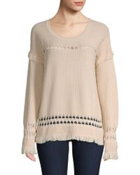 Feel The Piece - Colin Diamond Weave Fringed Sweater - Lyst